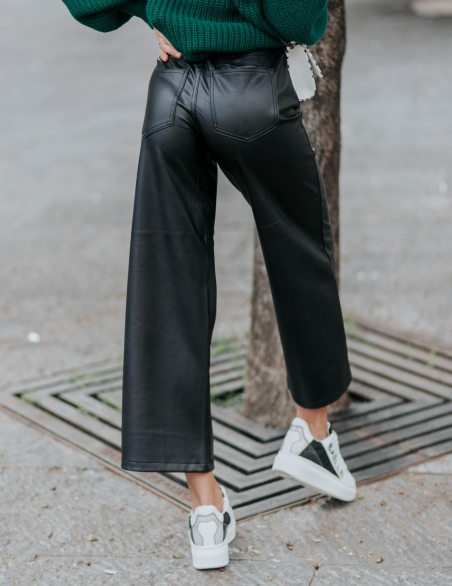 ONLY PANTALONI  ECOPELLE OVER