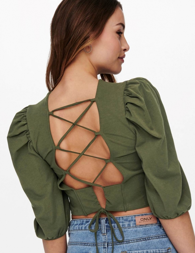ONLY TSHIRT  CROP LACCI