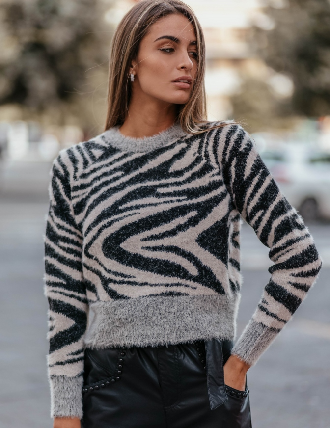 ONLY MAGLIA  ANIMALIER